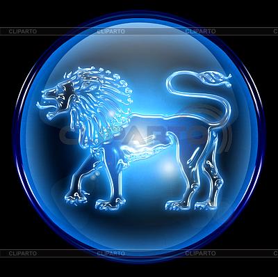 狮子星座按钮图标, | 高分辨率插图 |ID 3699057