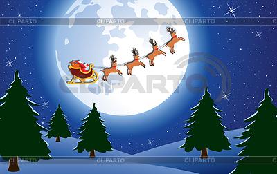 Urlaub Hintergrund mit Santa | Stock Vektorgrafik |ID 3478120