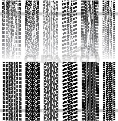 Tire prints | Klipart wektorowy |ID 3493295