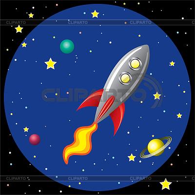 Rakete im Weltraum | Stock Vektorgrafik |ID 3493509