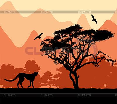 Dzikie afrykańskie zwierzęta | Klipart wektorowy |ID 3473590