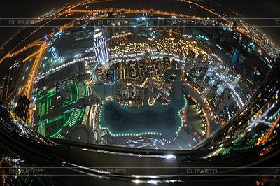 Panorama von Dubai Mitte bei Nacht | Foto mit hoher Auflösung |ID 3399508