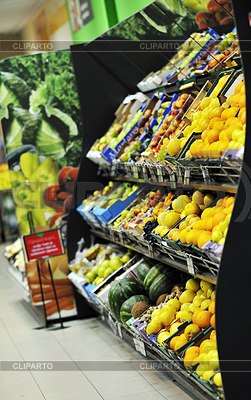 Frisches Obst und Gemüse im Supermarkt | Foto mit hoher Auflösung |ID 3414604