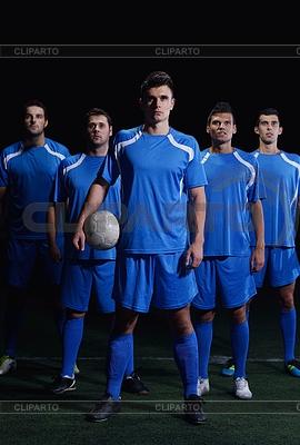 Zespół piłkarzy | Foto stockowe wysokiej rozdzielczości |ID 3492319
