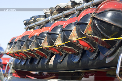 Hełmy strażackie `s | Foto stockowe wysokiej rozdzielczości |ID 3435548