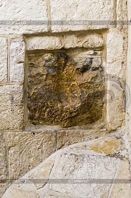 Jesus Hand Impressum - Via Dolorosa, Jerusalem | Foto mit hoher Auflösung |ID 3436798