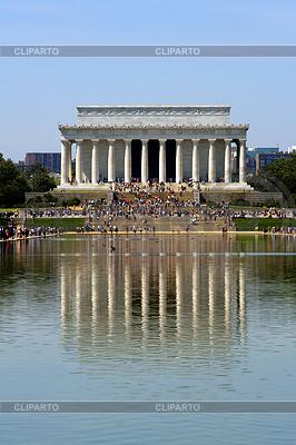 Lincoln Memorial spiegelt im Pool | Foto mit hoher Auflösung |ID 3439609