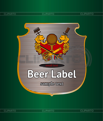 Bier-Etikett | Stock Vektorgrafik |ID 3434364