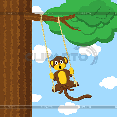 Swinging Affen | Stock Vektorgrafik |ID 3441705