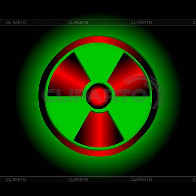 Знак радиации в тату