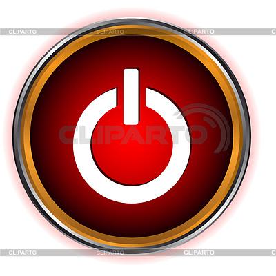 Мощность красный круг логотип | Векторный клипарт | CLIPARTO