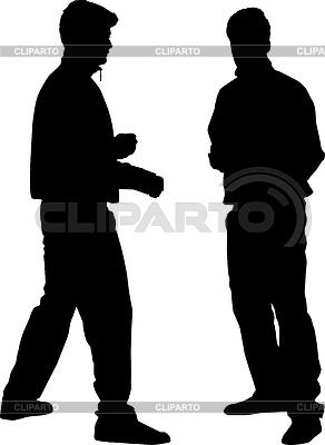 Силуэты спортсменов | Иллюстрация большого размера |ID 3453569