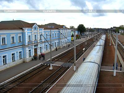 Blick auf Bahnhof und Zug | Foto mit hoher Auflösung |ID 3491969
