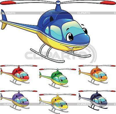 Lustiger Hubschrauber | Stock Vektorgrafik |ID 3473573