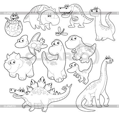 恐龙家族 | 高分辨率插图 |ID 3477001