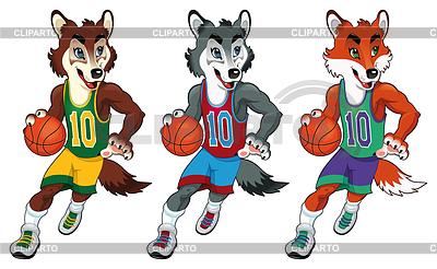 Maskotki Koszykówka | Stockowa ilustracja wysokiej rozdzielczości |ID 3477009