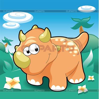 Triceratops Baby | Klipart wektorowy |ID 3525851