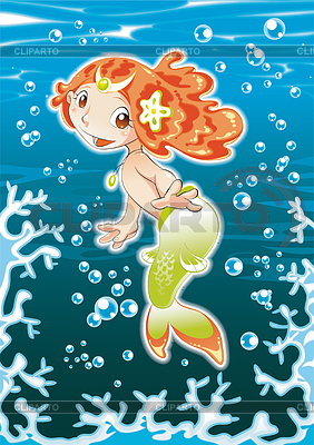 Baby Mermaid | Stock Vektorgrafik |ID 3528334