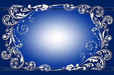 蓝色冬季背景 | 向量插图 |ID 3486039