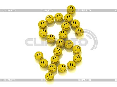 Lustige Smilies in Dollar Figur ausgekleidet | Illustration mit hoher Auflösung |ID 3477790