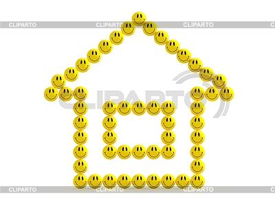 3D Haus Spaß smilies | Illustration mit hoher Auflösung |ID 3477901