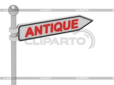 ANTIQUE arrow sign with letters | Stockowa ilustracja wysokiej rozdzielczości |ID 3595448