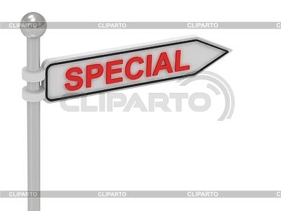 SPECIAL arrow sign with letters | Stockowa ilustracja wysokiej rozdzielczości |ID 3595718