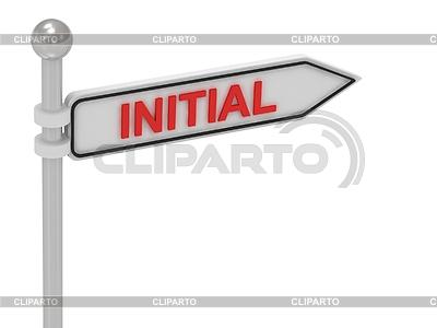 INITIAL знак стрелки с буквами | Иллюстрация большого размера |ID 3595875