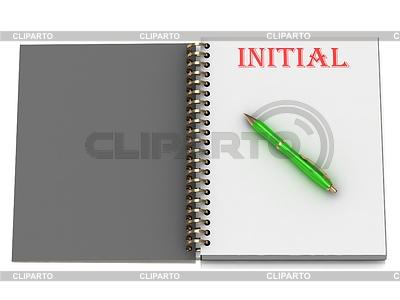 WSTĘPNE napis na stronie notebooka | Stockowa ilustracja wysokiej rozdzielczości |ID 3601639