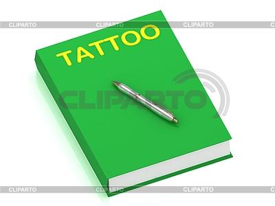 Nazwa tatuaż na okładce książki | Stockowa ilustracja wysokiej rozdzielczości |ID 3602698