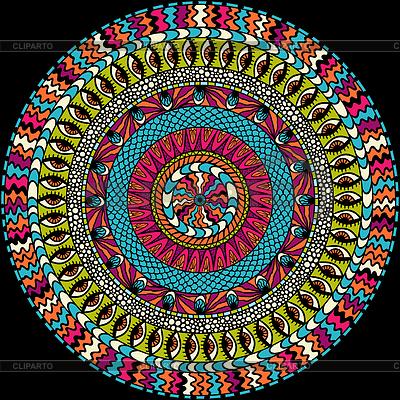 Kolorowe mozaiki okrągły ornament | Klipart wektorowy |ID 3483893