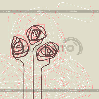 Abstract floral background. Element zur Blume | Stock Vektorgrafik |ID 3485030