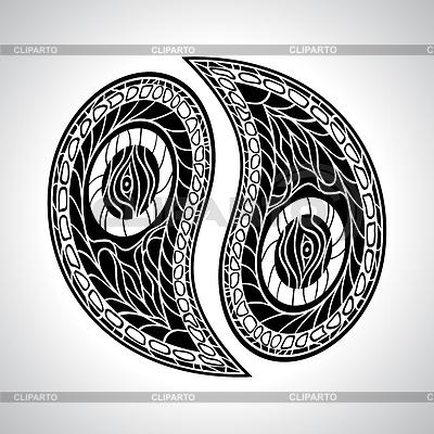 Abstract floral Yin Yang Symbol | Stock Vektorgrafik |ID 3491231