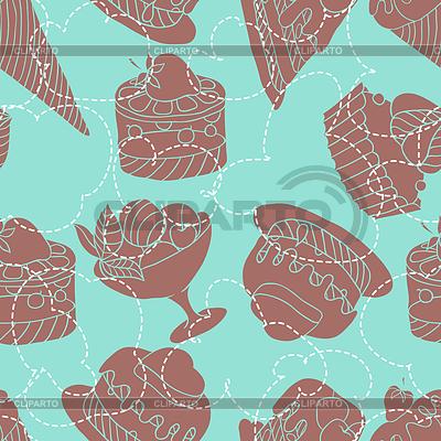 Nahtloses Fest-Muster von Süßigkeiten | Stock Vektorgrafik |ID 3502776