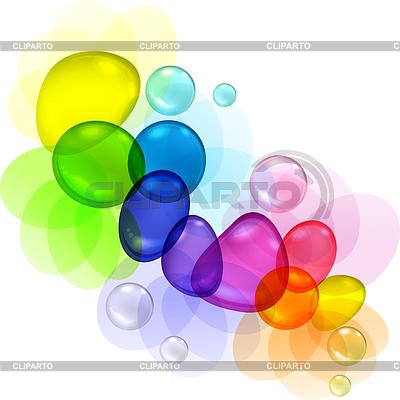 Streszczenie kolor z bąbelkami i krople przejrzyste | Klipart wektorowy |ID 3504018