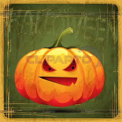 EPS10 vintage grunge alten Karte. Halloween-Kürbis | Stock Vektorgrafik |ID 3504208