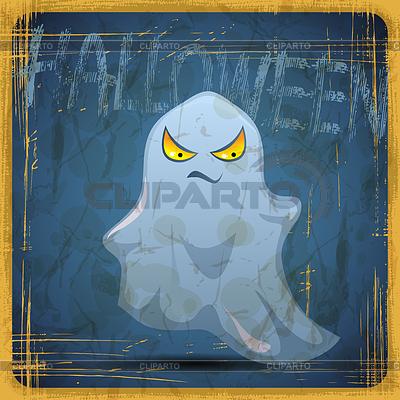 EPS10 rocznika grunge kartkę. Halloween duchów | Klipart wektorowy |ID 3504216