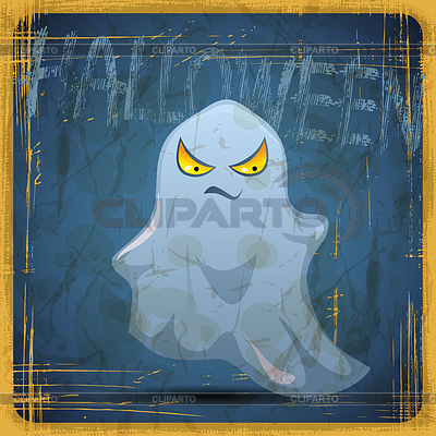 EPS10 vintage grunge alten Karte. Halloween ghost | Stock Vektorgrafik |ID 3504216