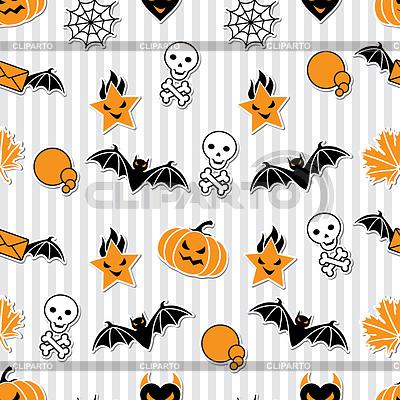 Tło obiektów związanych z Halloween | Klipart wektorowy |ID 3504465