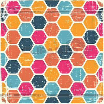Абстрактный геометрический ретро-фон | Векторный клипарт |ID 3504635