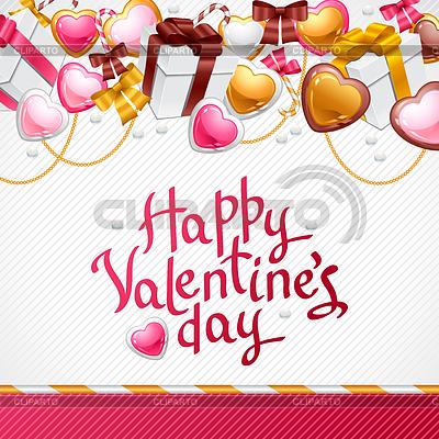 Valentinstag-Hintergrund. Geschenk-Karte oder Flyer | Stock Vektorgrafik |ID 3508037