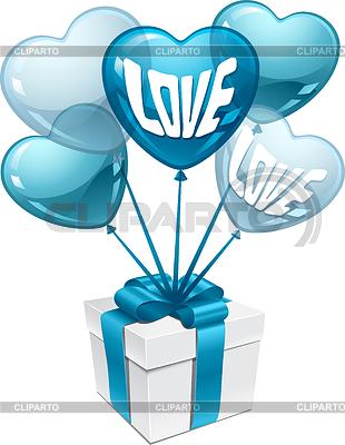 Luftballons in Form von Herzen | Stock Vektorgrafik |ID 3508105