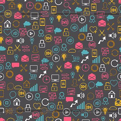 Sieć społeczna bez szwu pettern SEO internet | Klipart wektorowy |ID 3537908
