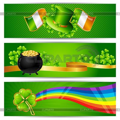Banery na dzień św Patryka | Klipart wektorowy |ID 3546867