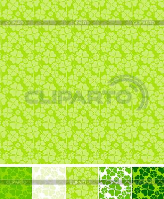 Sammlung von Klee Muster für Saint Patrick Day | Stock Vektorgrafik |ID 3546877
