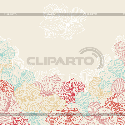 Abstract elegance seamless flower background with | Klipart wektorowy |ID 3551180