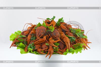 Вареные раки на блюде | Фото большого размера |ID 3702299