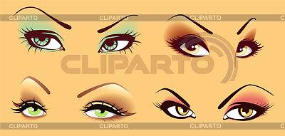 Set von Augen | Stock Vektorgrafik |ID 3487215
