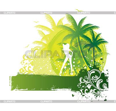 Kobieta lato | Klipart wektorowy |ID 3487719