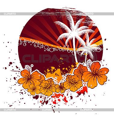 Tropical design z palmami | Klipart wektorowy |ID 3488475